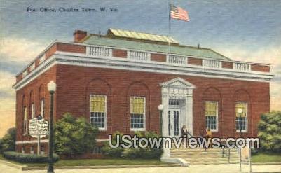 Post Office - Charles Town, West Virginia WV Postcard