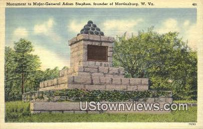 Adam Stephen, founder of Martinsburg - West Virginia WV Postcard