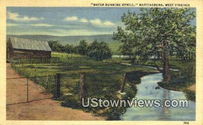 Water Running Uphill - Martinsburg, West Virginia WV Postcard
