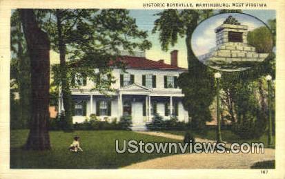 Historic Boydville - Martinsburg, West Virginia WV Postcard