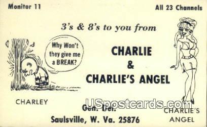 Charlie & Charlie's Angel - Saulsville, West Virginia WV Postcard