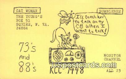 Cat Woman - Squire, West Virginia WV Postcard