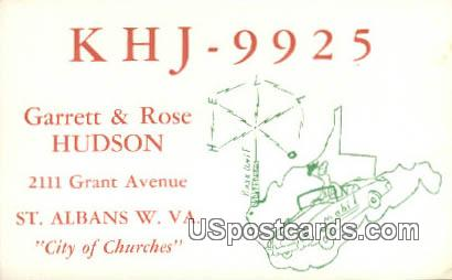 Garrett & Rose Hudson - St Albans, West Virginia WV Postcard