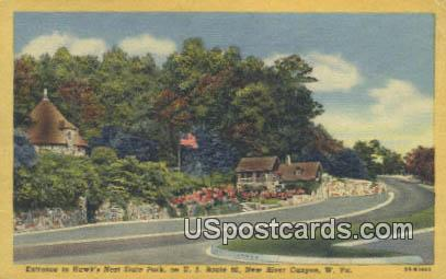 Hawk's Nest State Park - New River Canyon, West Virginia WV Postcard