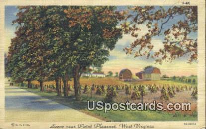 Point Pleasant, West Virginia Postcard      ;      Point Pleasant, WV