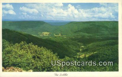 The Saddle - Allegheny Front, West Virginia WV Postcard
