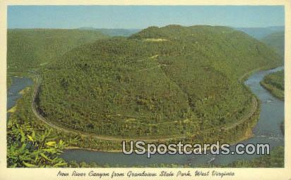 New River Canyon - Grandview State Park, West Virginia WV Postcard