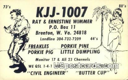 Ray & Ernestine Wimmer - Brenton, West Virginia WV Postcard