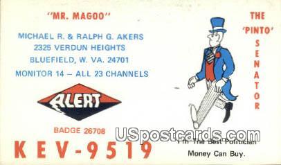 Mr Magoo - Bluefield, West Virginia WV Postcard