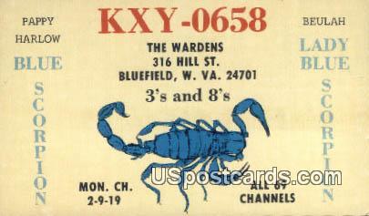Pappy Harlow, Blue Scorpion - Bluefield, West Virginia WV Postcard