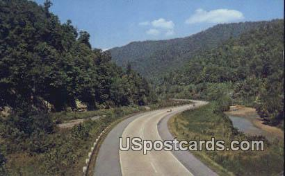 West Virginia Turnpike, West Virginia Postcard      ;      West Virginia Turnpike, WV - West Virginia Turnpike Postcards