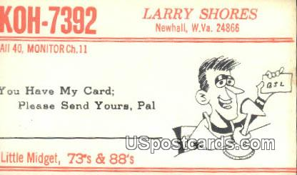 Larry Shores - Newhall, West Virginia WV Postcard