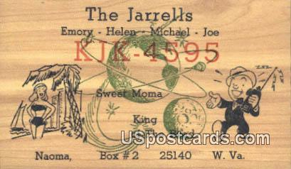 The Jarrells - Naoma, West Virginia WV Postcard