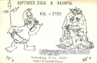 Ruptured Duck 7 Bashful - Parkersburg, West Virginia WV Postcard