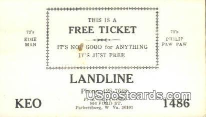 Landline - Parkersburg, West Virginia WV Postcard