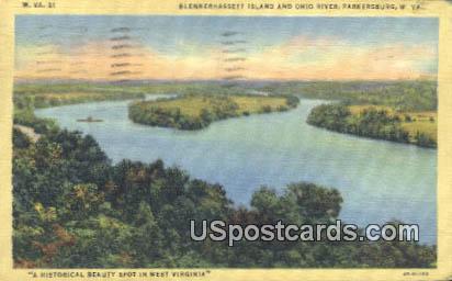 Blennerhassett Island, Ohio River - Parkersburg, West Virginia WV Postcard