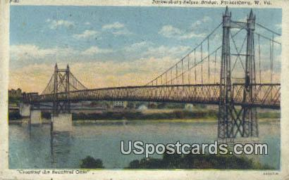 Parkersburg Belpre Bridge - West Virginia WV Postcard