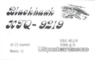 Blackhawk, Doug Keller - MIsc, West Virginia WV Postcard