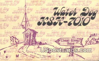 Water Dog - Cheat River Base, West Virginia WV Postcard