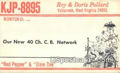 Red Pepper & Dixie Dee - Vallscreek, West Virginia WV Postcard