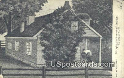 Birthplace of Stonewall Jackson - Clarksburg, West Virginia WV Postcard