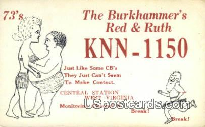 Burkhammer's Red 7 Ruth - Central Station, West Virginia WV Postcard