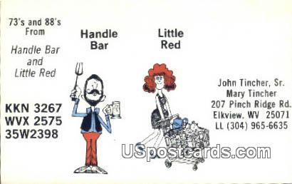Handle Bar & Little Red - Elkview, West Virginia WV Postcard