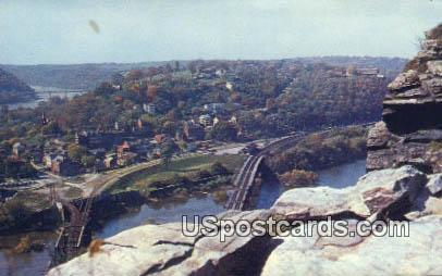 Maryland Heights - Harpers Ferry, West Virginia WV Postcard