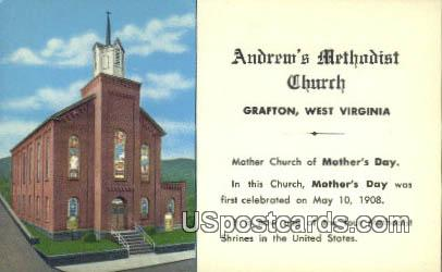 Andrew's Methodist Church - Grafton, West Virginia WV Postcard