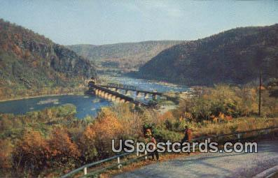 Harpers Ferry, WV Postcard      ;      Harpers Ferry, West Virginia