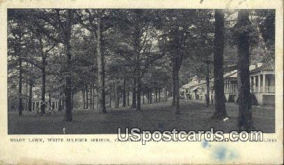 Shady Lawn - White Sulphur Springs, West Virginia WV Postcard