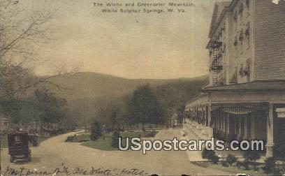 White & Greenbrier Mountain - White Sulphur Springs, West Virginia WV Postcard