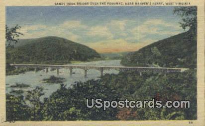 Sandy Hood Bridge - Harpers Ferry, West Virginia WV Postcard