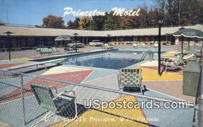 Princeton Motel - West Virginia WV Postcard