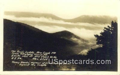 Real Photo - Devil's Saddle - Allegheny Front, West Virginia WV Postcard