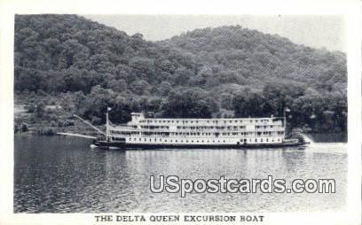 Delta Queen Excursion Boat - MIsc, West Virginia WV Postcard
