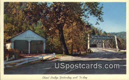 Cheat Bridge Yesterday & To-Day - MIsc, West Virginia WV Postcard