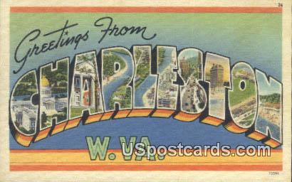 Charleston, WV Postcard      ;      Charleston, West Virginia