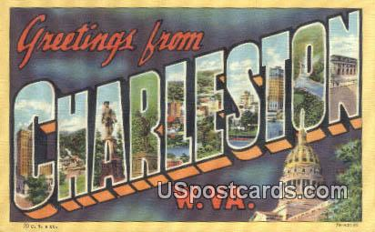 Charleston, West Virginia Postcard      ;      Charleston, WV