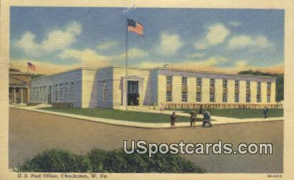 US Post Office - Charleston, West Virginia WV Postcard