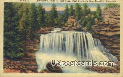Blackwater Falls - Thomas, West Virginia WV Postcard