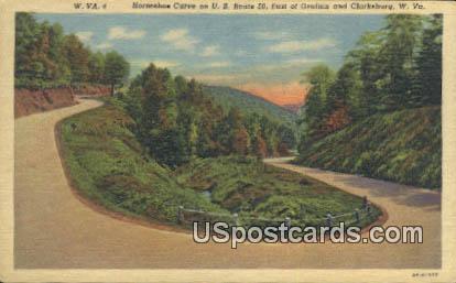Horseshoe Curve - Clarksburg, West Virginia WV Postcard