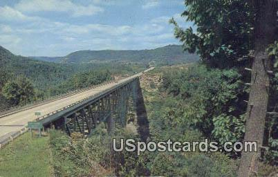 Charlton Bridge - Bluestone Gorge, West Virginia WV Postcard