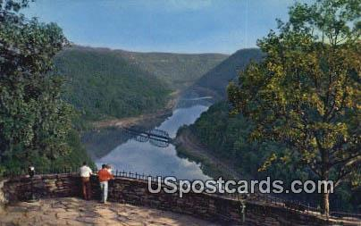 New River Canyon - Ansted, West Virginia WV Postcard