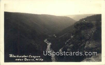 Real Photo - Blackwater Canyon - Davis, West Virginia WV Postcard