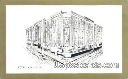 Hotel Frederick - Huntington, West Virginia WV Postcard
