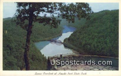 Scenic Overlook - Hawk's Nest State Park, West Virginia WV Postcard