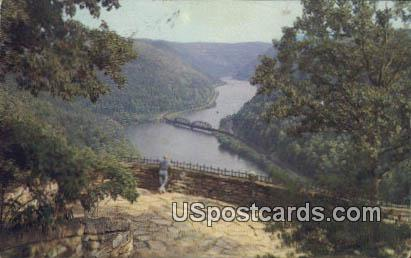Gauley Bridge - Hawks Nest, West Virginia WV Postcard