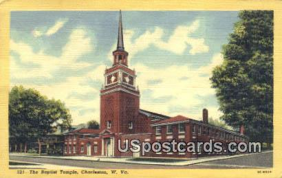 Baptist Temple - Charleston, West Virginia WV Postcard