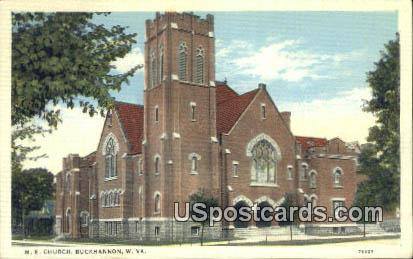 ME Church - Buckhannon, West Virginia WV Postcard